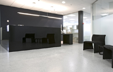minimalistic and stylish office reception